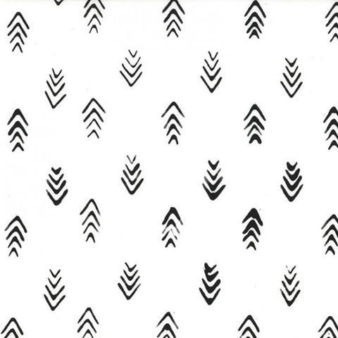Me+You - Indah Batiks - Herringbone in Chalk by Bobbie Lou's Fabric Factory