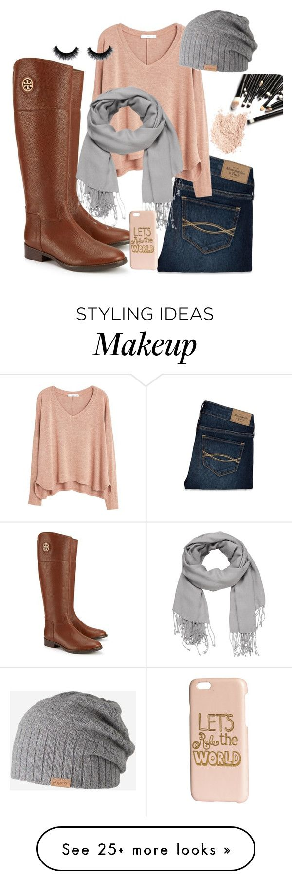 """Untitled #37"" by emilyscott314 on Polyvore featuring Tory Burch, Abercrombie & Fitch, MANGO, maurices, Barts and H&M"