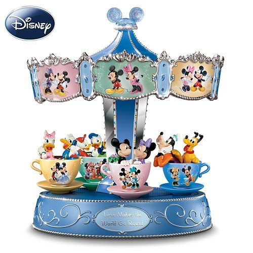 Disney Mickey Mouse And Friends Carousel Music Box Love Makes The World Go Round