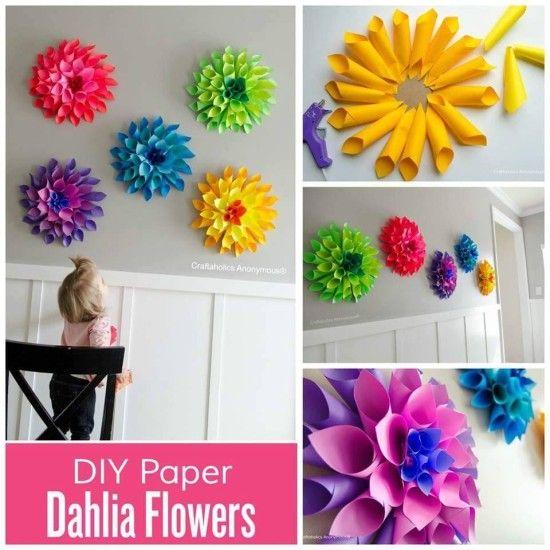 Paper Dahlia Wreath Watch The Video Tutorial