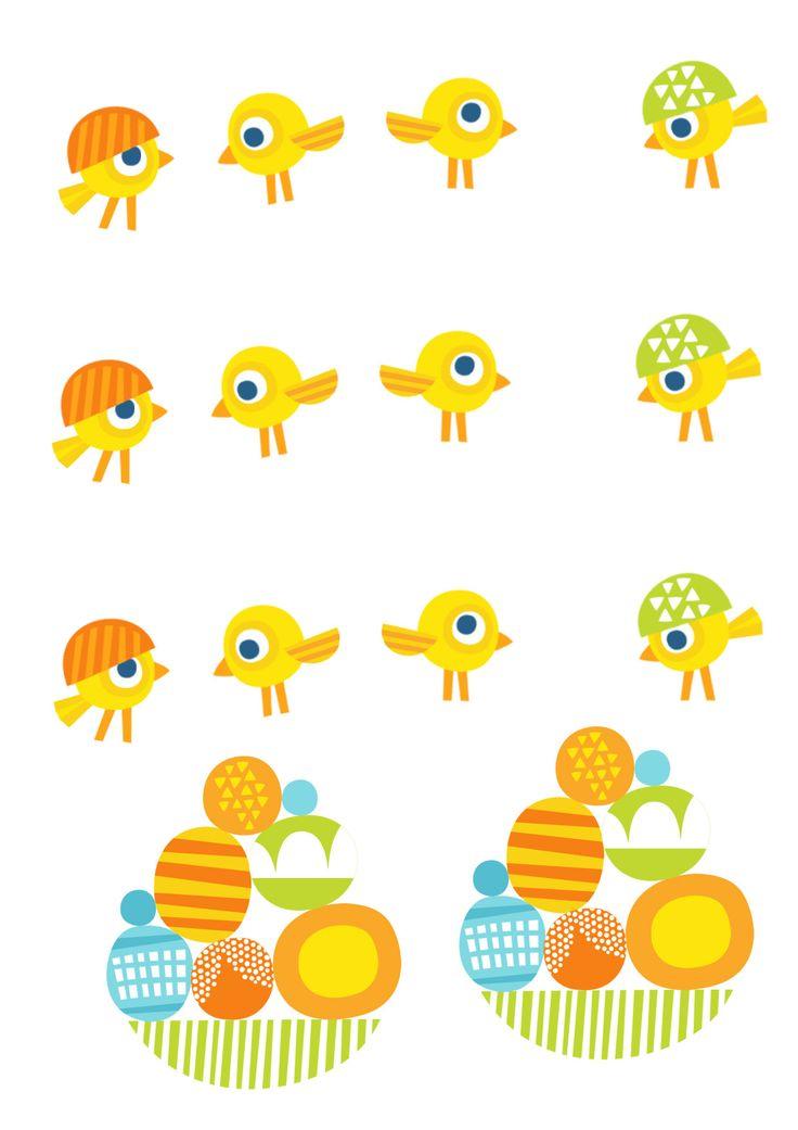 Pikku Kakkosen tulostettavat pääsiäispaperit. Free printable pattern. lasten   askartelu   pääsiäinen   käsityöt   koti   DIY ideas   kid crafts   Easter   home   Pikku Kakkonen