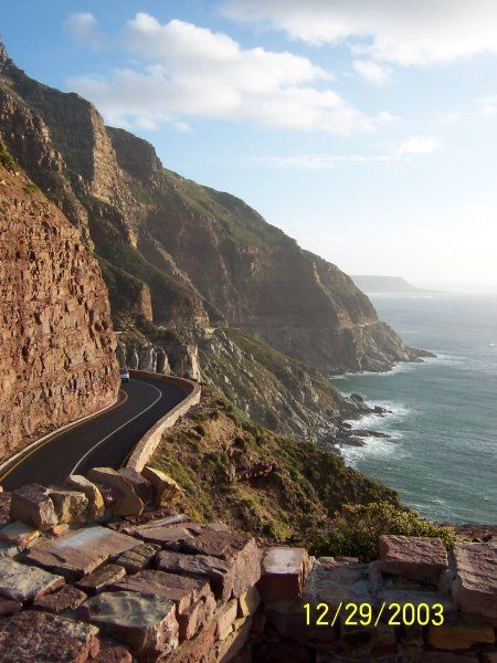 Chapman's Peak Drive. A very scenic road to drive on near Hout Bay, South Africa.