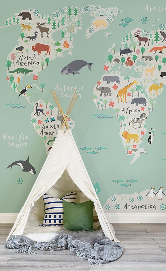 The Best Boys Bedroom Wallpaper Ideas On Pinterest Boys - Boys room with maps