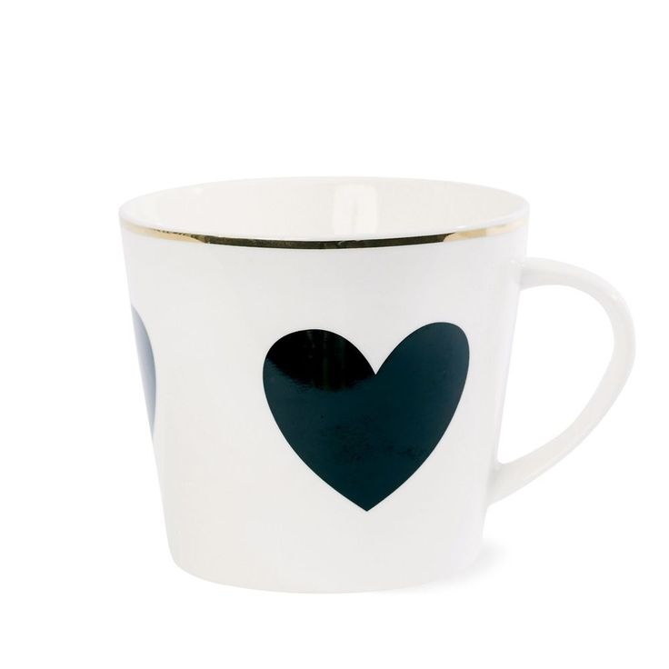 miss toile kaffeetasse big heart black in m bel wohnen. Black Bedroom Furniture Sets. Home Design Ideas