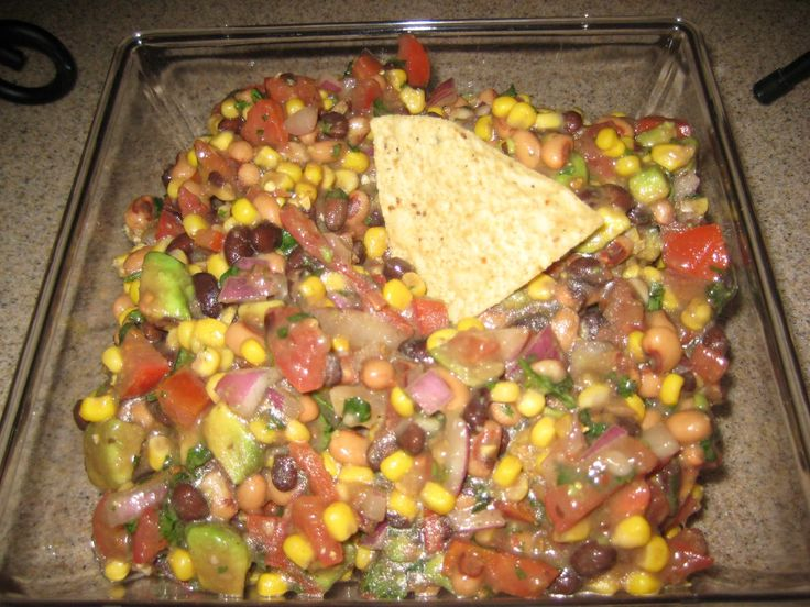 Mexican Caviar -VERDICT:  this dip is FABULOUS.  And healthy!