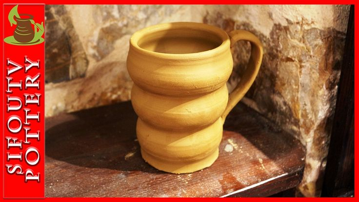 Pottery throwing - How to Make a Pottery Beehive Mug #96