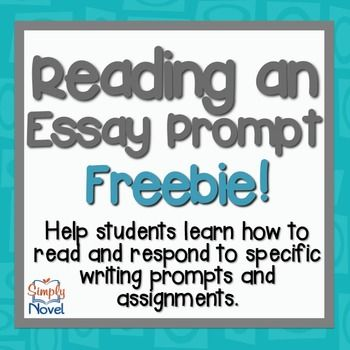 Handout and activity on reading and responding to different types of essay prompts.  Directly from the Essay Apprentice Writing System.  Works best for those students who are really struggling with writing and need some assistance responding to essay prompts for writing assessments.*****************************************************************************Be sure to check out our other Common Core Aligned products for Grades 6-12 here on TPT!Complete Literature Guides for Grades 6-8 The…