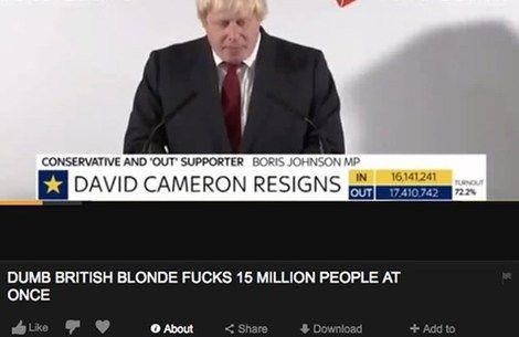 Boris Johnson's Brexit speech has showed up on Pornhub