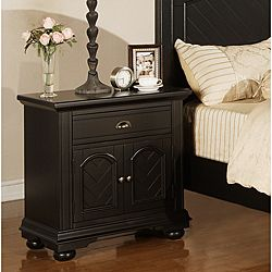 cuzia iron and glass nightstand with shelf