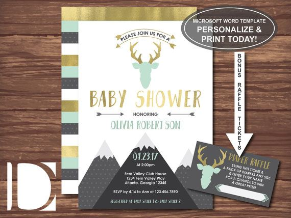 511 best Baby Showers images on Pinterest Baby shower - how to make a baby shower invitation on microsoft word