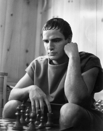"Ruth Orkin: Marlon Brando on the set of ""Julius Caesar,"" Hollywood, CA, 1952"