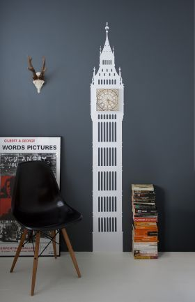Lots of wall stickers out there but this big ben wall clock is a fave. the clock face actually works! #britishhome #quirkyhome