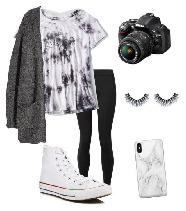 """""""Untitled #95"""" by denisse-arellanoaguirre on Polyvore featuring The Row, American Eagle Outfitters, Kofta, Converse, Nikon and Recover"""
