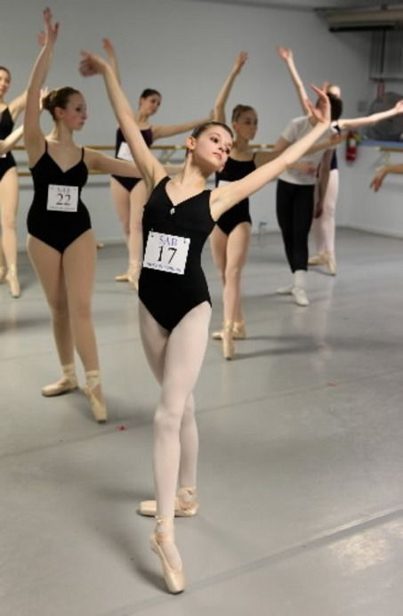 Young ladies auditioning for the School of American Ballet | Auditions