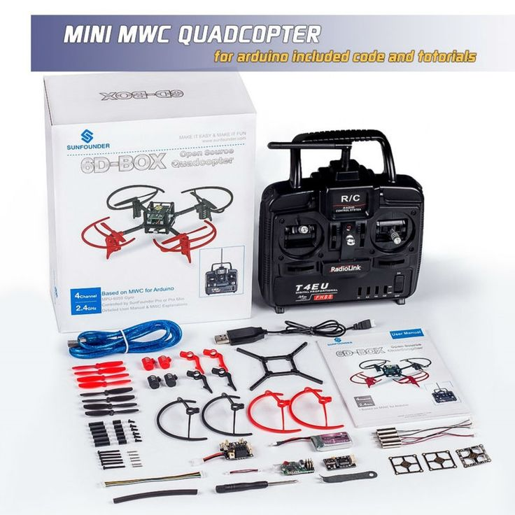 135.99$  Buy here - http://ali3to.worldwells.pw/go.php?t=32686996514 - DIY Electronics Quad Drone Quadcopter 6D-Box MWC Multiwii Starter Kit For Arduino with 2.4GHz RC 6-Axis Gyro 135.99$