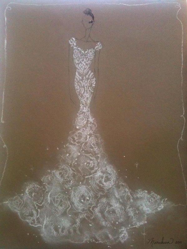 Marchesa wedding dress design