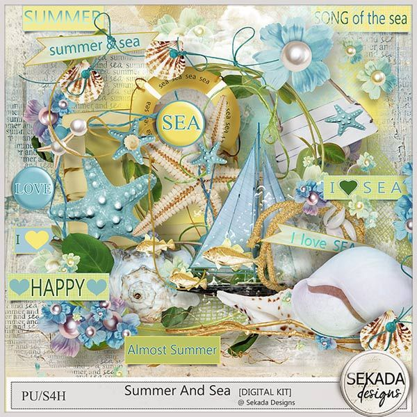 Personal Use :: Kits :: Summer And Sea - Full Kit