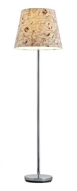 4016 - TRIO - stojanová lampa - biely textil so vzorom