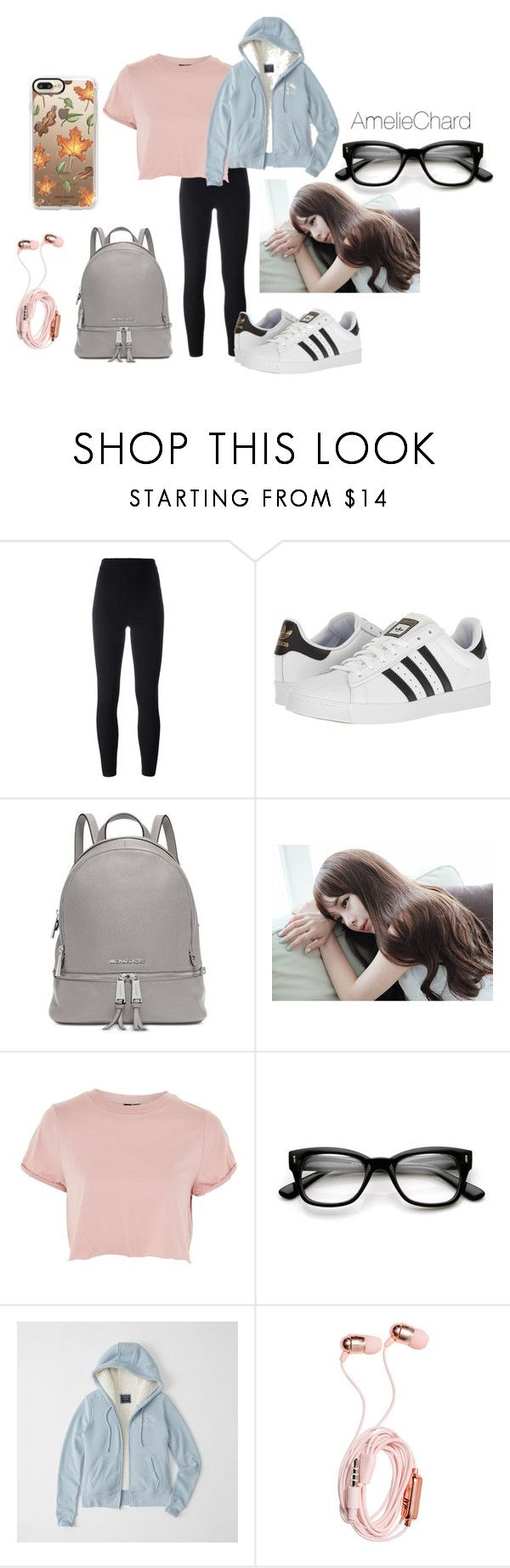 """""""Chapter 25 Bellatrix's Outfit"""" by featherofdarkness on Polyvore featuring Yeezy by Kanye West, adidas, Michael Kors, GABALNARA, Topshop, ZeroUV, Abercrombie & Fitch and Casetify"""