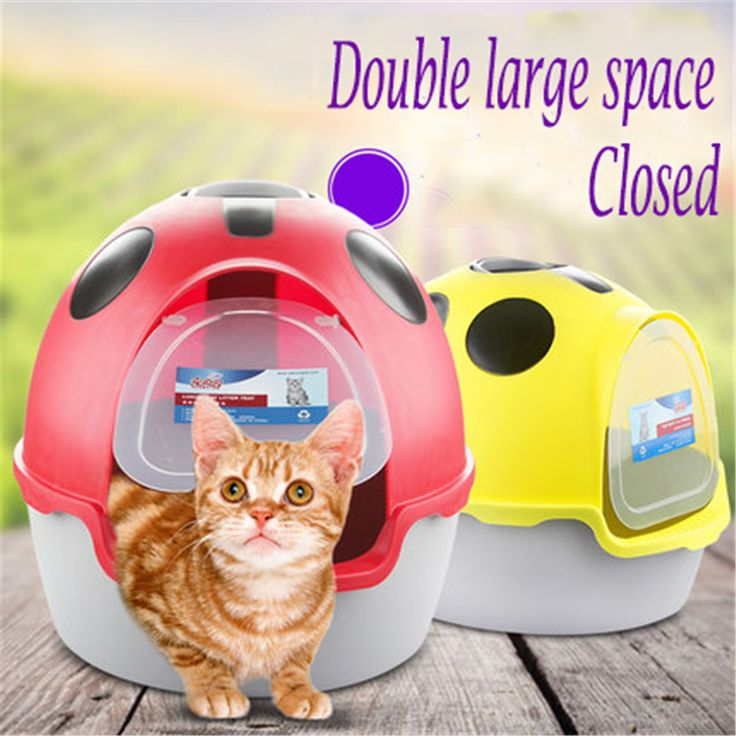 Cat Closed Scoop Litter Toilet Box Lettiera Gatto Box Sand Restroom Puppy Toilet Training For Cats Dog Tray Indoor Dog QQM2342