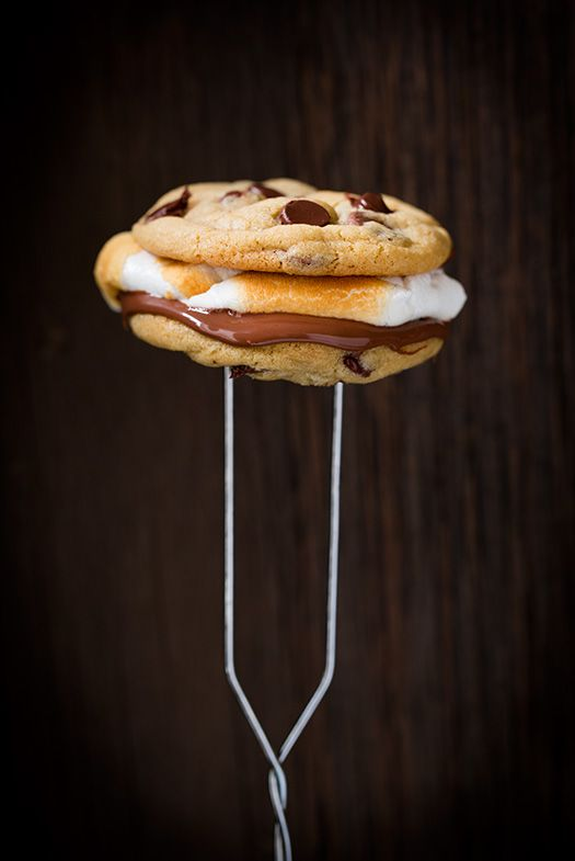 Chocolate Chip Cookie S'mores - just wow!