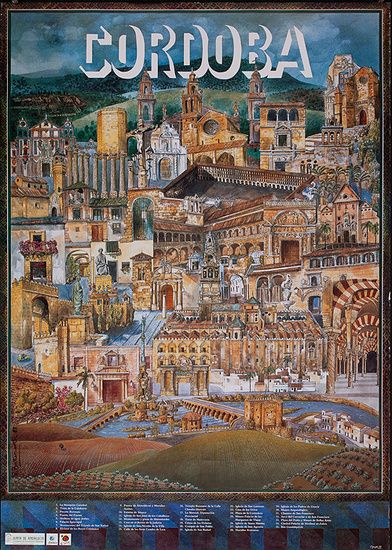 DP Vintage Posters - Cordoba Original Spanish Travel Poster City Illustration