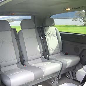 Interior of a Mercedes Viano - Touring Vehicle for Small Size Groups