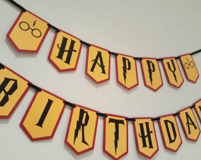 Cumpleaños de Harry potter - banner de Harry potter - Harry parte de potter - Harry potter decoraciones - garland de Harry potter
