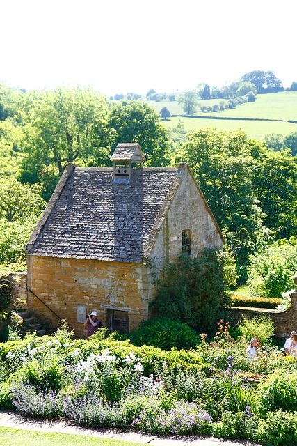 Little cottage home, in Snowshill, Cotswolds, England.