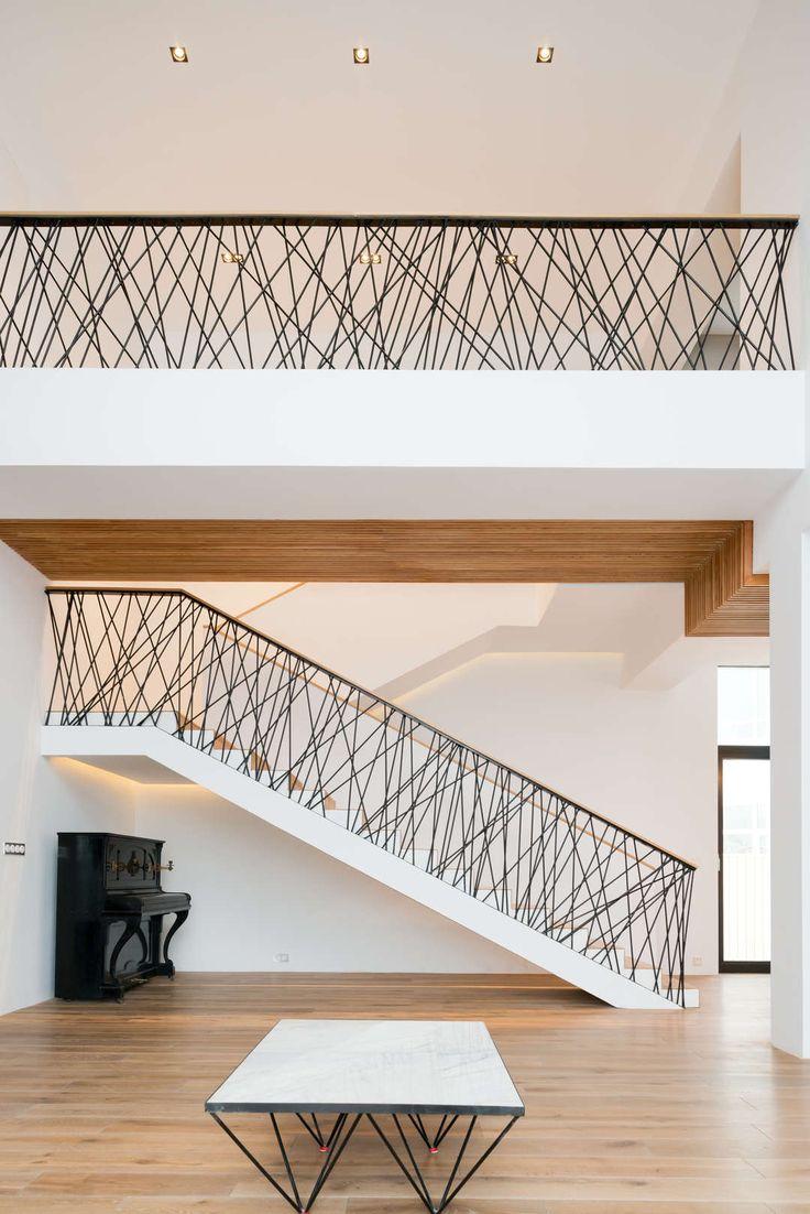 Geländer Galerie, leicht und locker