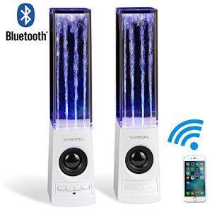 Haut Parleur Bluetooth à jet d'eau, Enceinte Sans Fil PC fontaine de la musique compatible avec l'Ordinateur, IPhone, Samsung, Sony et la…