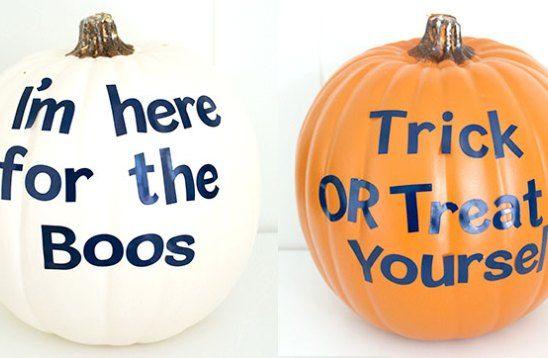 Make Your Own Punny Halloween Pumpkins