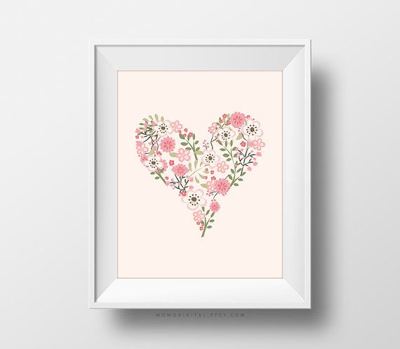 Floral Deer Head Print, 2 for 1, chic wall art, boho decor, floral ...