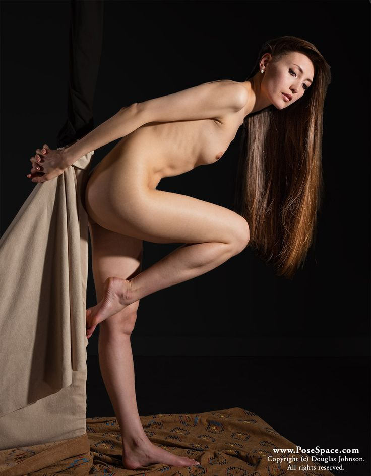 Matchless message, nude female art model poses quite