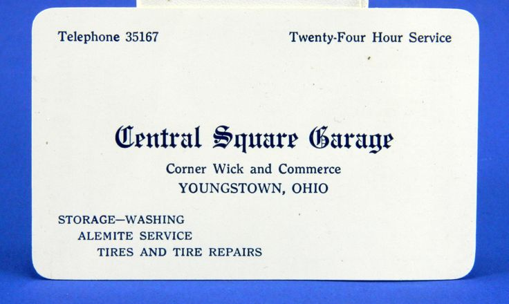 Youngstown Ohio Celluloid Business Card Central Square Garage 1928 Calendar 17566 by QueeniesCollectibles on Etsy