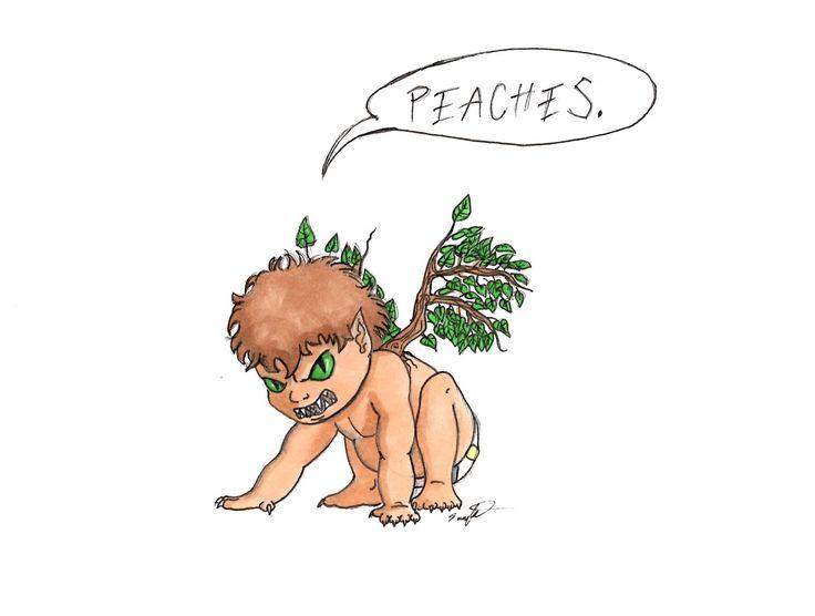 Peaches Percy Jackson Trials of Apollo Rick Riordan Art Print