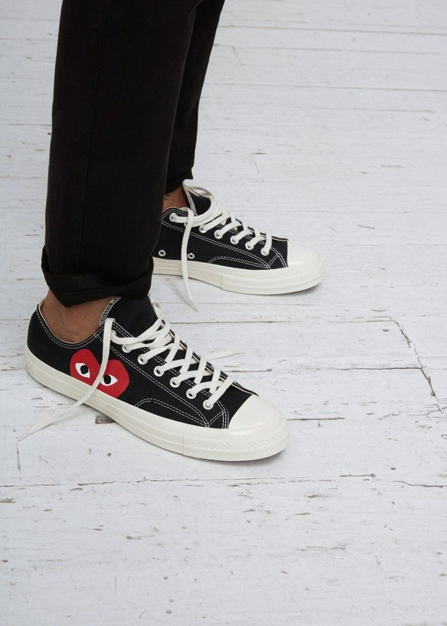 Comme Des Garcons PLAY Converse Chuck Taylor Low Top