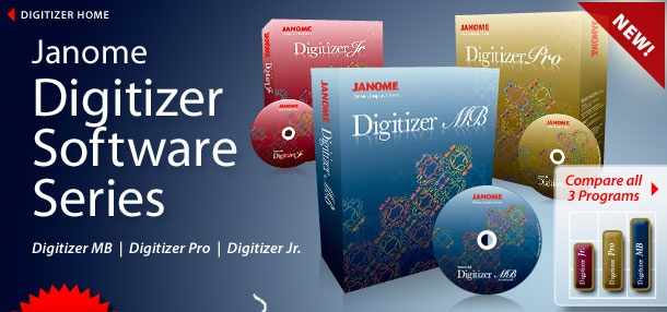 """Digitizer Software """"Janome"""" Overview of Digitizer Software Series"""