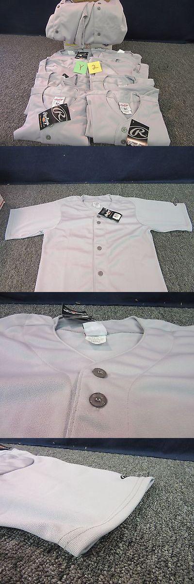 Baseball Shirts and Jerseys 181348: 10 Rawlings Baseball Softball Button Jerseys Grey Adult Extra Small Xs Shirt -> BUY IT NOW ONLY: $43.36 on eBay!