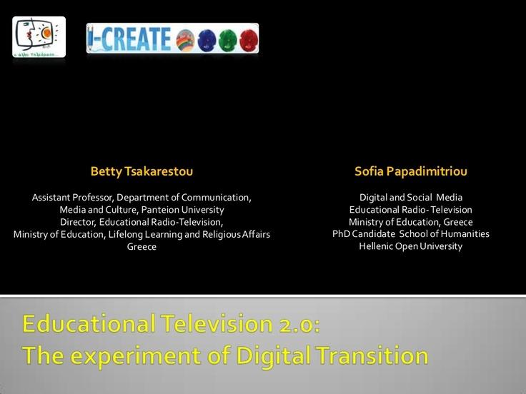 edutv20-english-11908747 by Sofia Papadimitriou via Slideshare