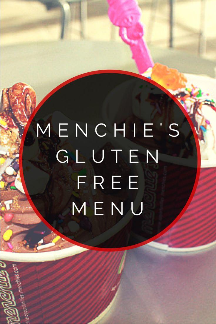 Menchie's Frozen Yogurt Gluten Free Menu #glutenfree