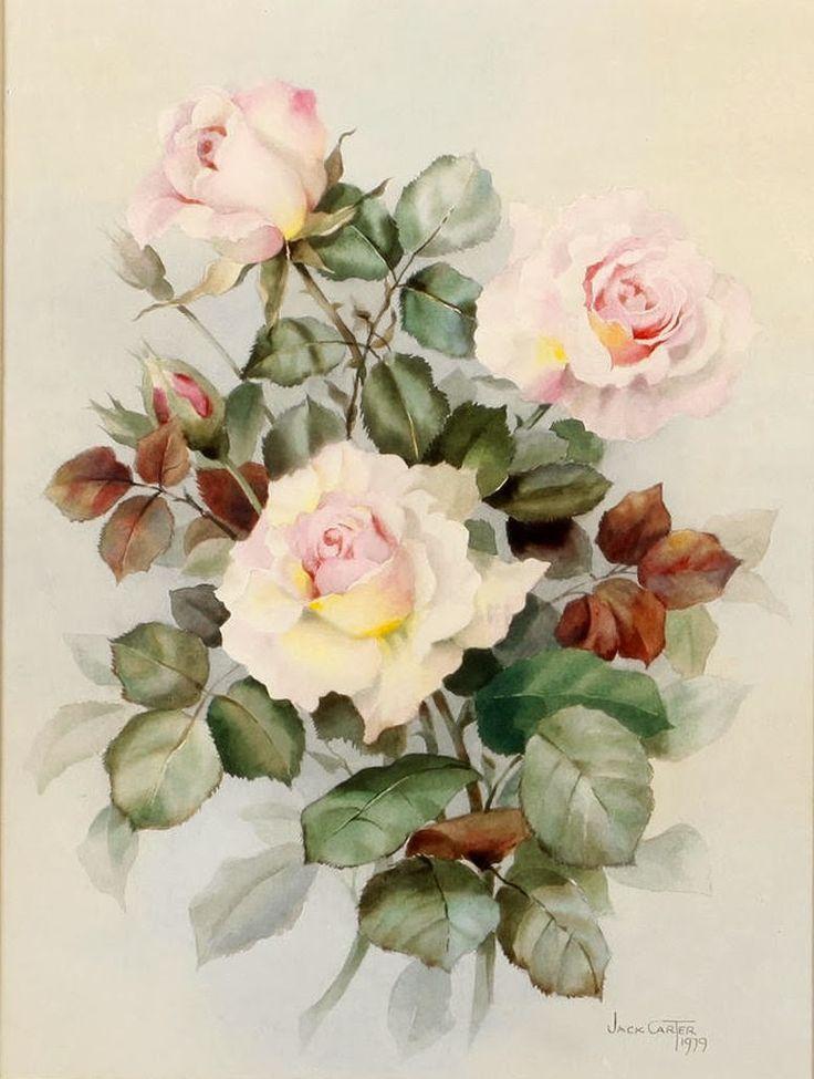 розы акварель картинки для декупажа