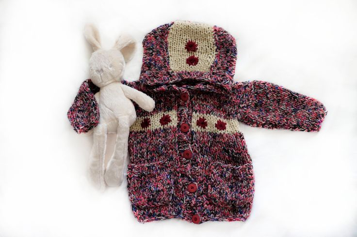 Modern children sweater with buttons for baby girl boy toddlers, for kids 0 months - 4 years, kids knit cardigan with hood, handmade coat by Jacobstoyshop on Etsy
