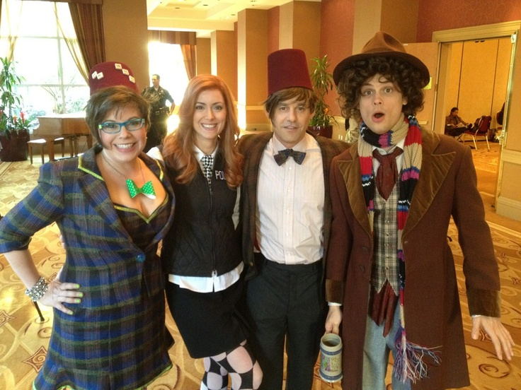 Doctor Who convention! Garcia, CSU Technician Sharp, Kevin Lynch and Reid; from S7E23, Hit.