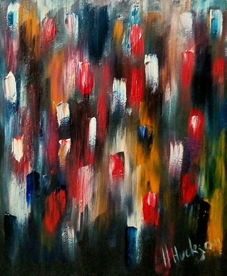 """'Thoughts of Flowers' Original Abstract Oil Painting 12"""" x 10"""""""