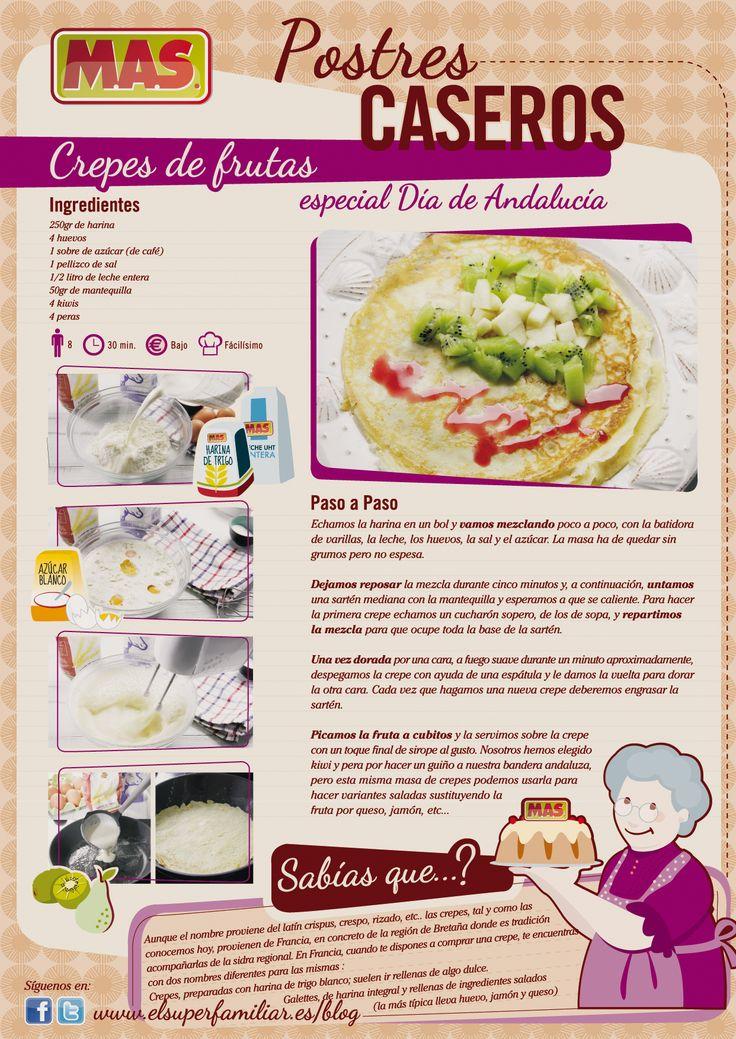 Crepes de frutas, ¡aprende a hacer la masa!   #recetas #reposteria #infografias #inforecetas