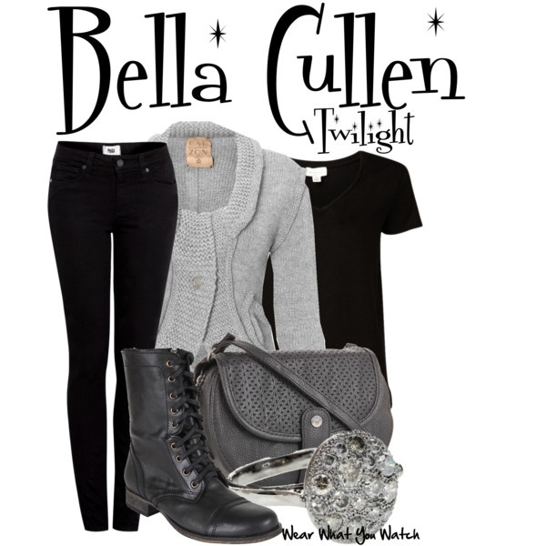 Inspired by Kristen Stewart as Bella Cullen in the Twilight franchise.