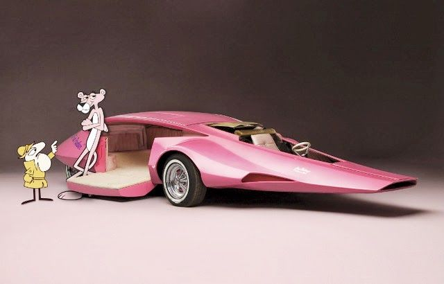 """Pink Panther"" car created for the 1970s TV show, by designer Jay Ohrberg - Dark Roasted Blend"
