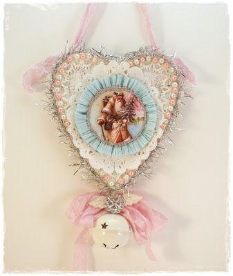 DIY:::Sweet Shabby Chic Vintage Jingle Bell Ornament !