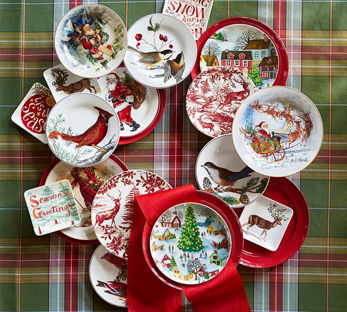 Drawing from vintage prints our Nostalgic Santa collection has all the beautiful details that you & 232 best Vaisselle de Noël- Christmas dinnerware images on Pinterest ...